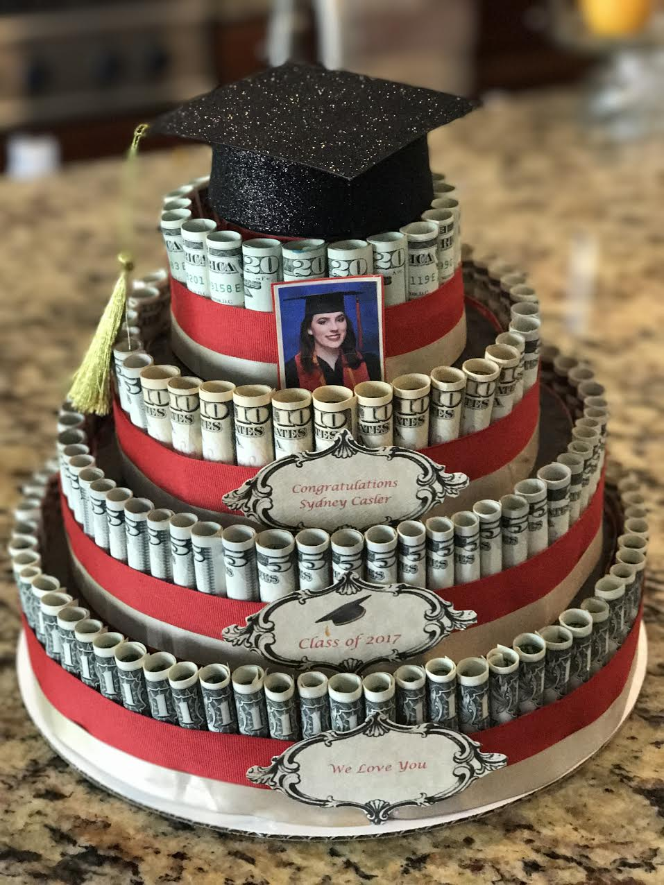 How I Built My Stepdaughter S Money Cake Maria Kang